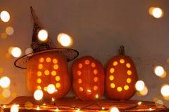 Halloweenowy dyniowy salowy obrazy stock
