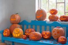 Halloweenowy dyniowy salowy Zdjęcie Royalty Free