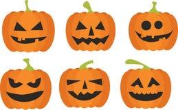 Halloweenowy dyniowy set Fotografia Stock