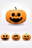 Halloweenowy dyniowy set Zdjęcie Stock