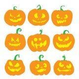 Halloweenowy dyniowy set Obrazy Stock