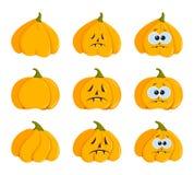 Halloweenowy dyniowy set Zdjęcie Royalty Free