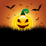 Halloweenowy dyniowy tło Obrazy Royalty Free