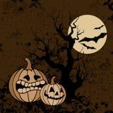 Halloweenowy dyniowy tło Zdjęcia Royalty Free