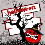 Halloweenowy dyniowy tło Fotografia Royalty Free
