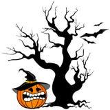 Halloweenowy dyniowy tło Zdjęcie Stock