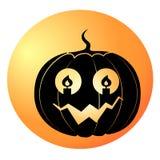 Halloweenowy dyniowy wektor zdjęcia stock
