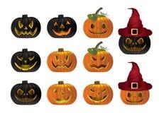 Halloweenowy dyniowy wektor Obrazy Royalty Free