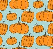Halloweenowy Dyniowy wektoru wzór Prosta ilustracja Halloween banie dla strony internetowej tła, opakunkowy papier Obrazy Stock