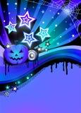 Halloweenowy dyskoteki przyjęcia plakat Obraz Stock