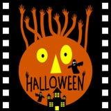 Halloweenowy dzień w filmu filmu Fotografia Stock