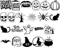 Halloweenowy elementu set Obrazy Stock