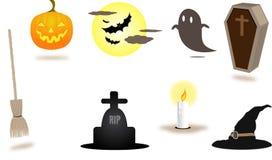 Halloweenowy elementu set Obrazy Royalty Free