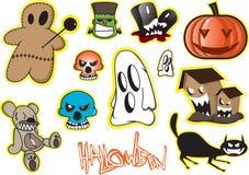 Halloweenowy elementu set Fotografia Royalty Free
