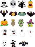 Halloweenowy elementu set Fotografia Stock