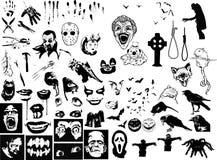 Halloweenowy elementu set Zdjęcia Royalty Free