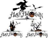 Halloweenowy elementu set Zdjęcie Royalty Free