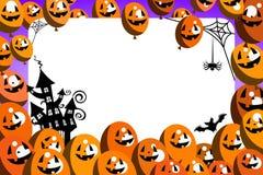 Halloweenowy fotografii ramy balonów przyjęcie royalty ilustracja