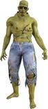 Halloweenowy Frankenstein Zły potwór Odizolowywający Obrazy Royalty Free