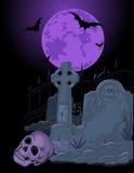 Halloweenowy grobowiec Zdjęcie Royalty Free