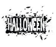 Halloweenowy grunge sylwetki tło Obrazy Stock