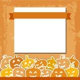 Halloweenowy grunge tło z kolorem żółtym i Fotografia Stock