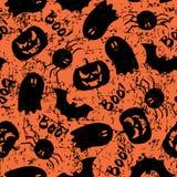 Halloweenowy grunge wzór Fotografia Royalty Free