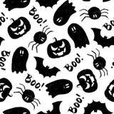 Halloweenowy grunge wzór Zdjęcie Stock