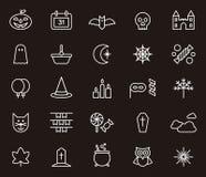 Halloweenowy ikona set Zdjęcia Stock