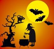 Halloweenowy illustation Fotografia Royalty Free