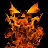 Halloweenowy Jack O twarzy ogienia tła powitania Latarniowy projekt Fotografia Royalty Free