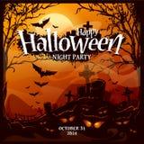Halloweenowy karciany projekt Zdjęcia Stock