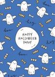 Halloweenowy kartka z pozdrowieniami Zdjęcia Royalty Free