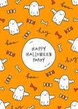 Halloweenowy kartka z pozdrowieniami Zdjęcie Royalty Free