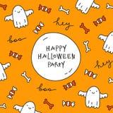 Halloweenowy kartka z pozdrowieniami Obrazy Royalty Free