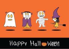 Halloweenowy kartka z pozdrowieniami Obraz Royalty Free