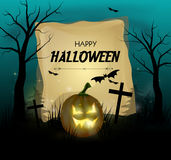 Halloweenowy kartka z pozdrowieniami Zdjęcia Stock