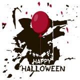 Halloweenowy kartka z pozdrowieniami Abctract grunge plamy i pluśnięcia ponowni, royalty ilustracja