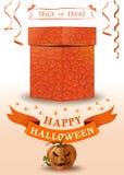 Halloweenowy kartka z pozdrowieniami z Jack o lampionem zdjęcie stock