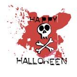 Halloweenowy kartka z pozdrowieniami Ręki rysować kości i czaszka Abstrakcjonistyczni brzęczenia Fotografia Stock