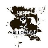 Halloweenowy kartka z pozdrowieniami Ręki rysować kości i czaszka Abstrakcjonistyczni brzęczenia Zdjęcia Stock