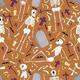 Halloweenowy kośca wzór 01 Zdjęcia Royalty Free