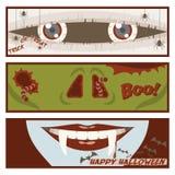 Halloweenowy komiksu sztandar Zdjęcie Royalty Free