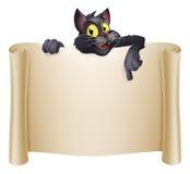 Halloweenowy kota sztandar Fotografia Stock