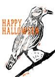 Halloweenowy kruk Zdjęcie Stock