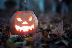 Halloweenowy lampion zdjęcie royalty free