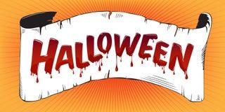 Halloweenowy literowanie ilustracja wektor