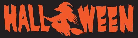 Halloweenowy loga sztandaru typ b ilustracja wektor