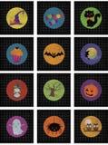 Halloweenowy Majcher lub Karta Set royalty ilustracja