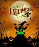 Halloweenowy menu szablon zdjęcie stock